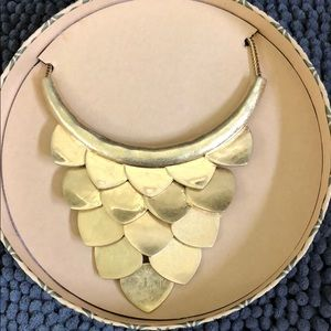 Chloe + Isabel gold statement necklace
